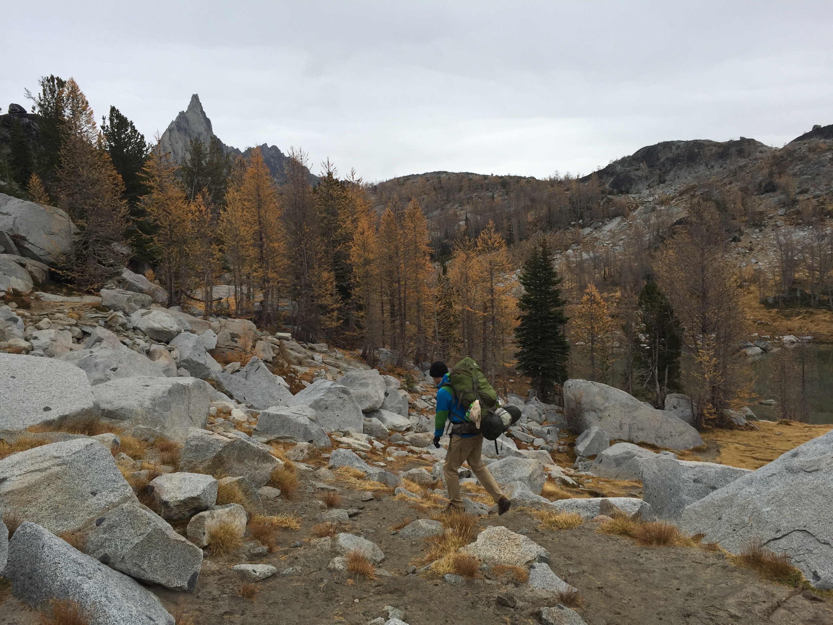 Hiking through the Upper Enchantments in the Fall.
