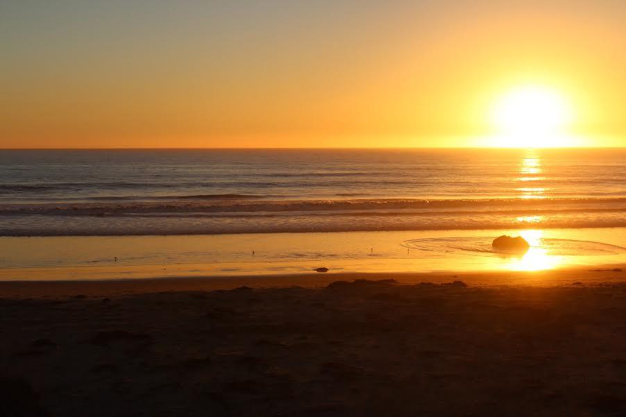 Sunset at Cayucos Beach, Central Coast California