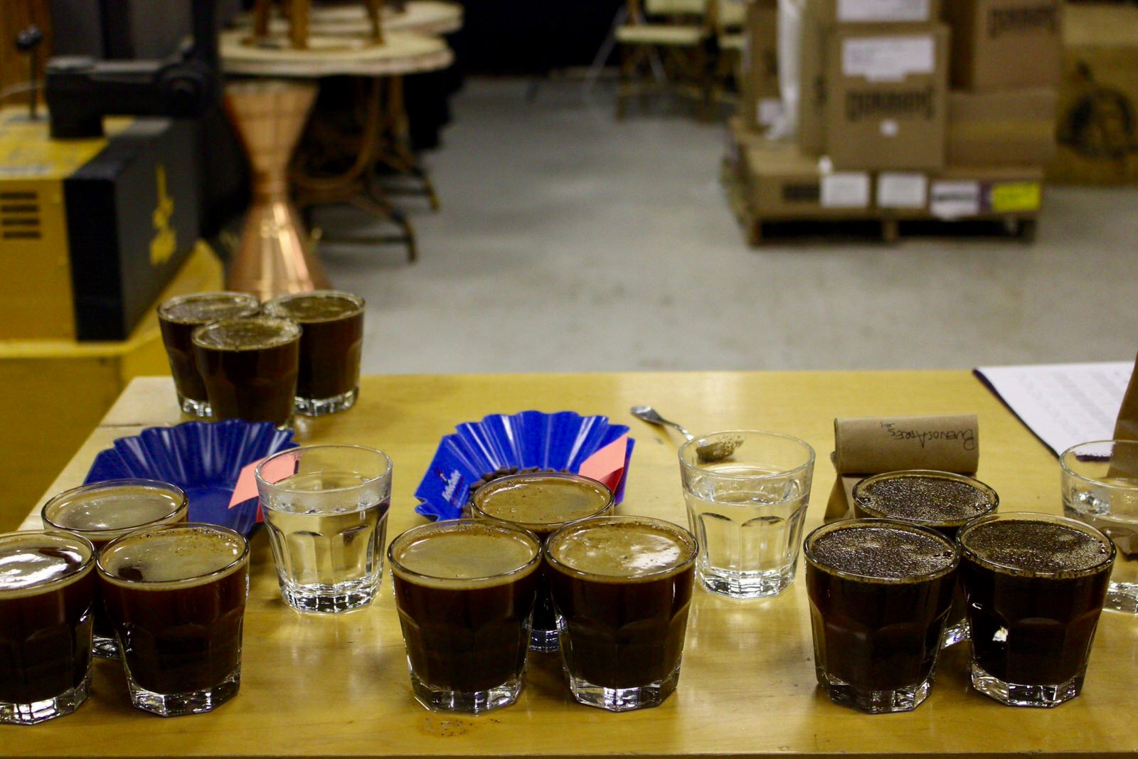 Roastery Tour and cupping with George Howell at George Howell Coffee Roasters in Boston, MA