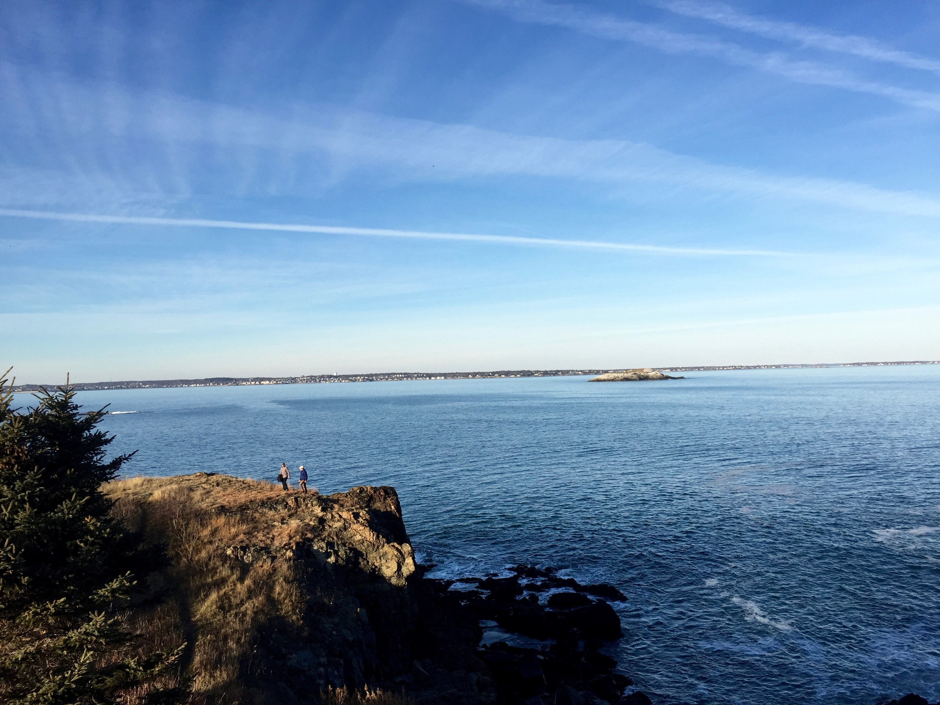 Escaped the noise of Boston and went to Nahant for the afternoon. A sunny East Coast winter day.