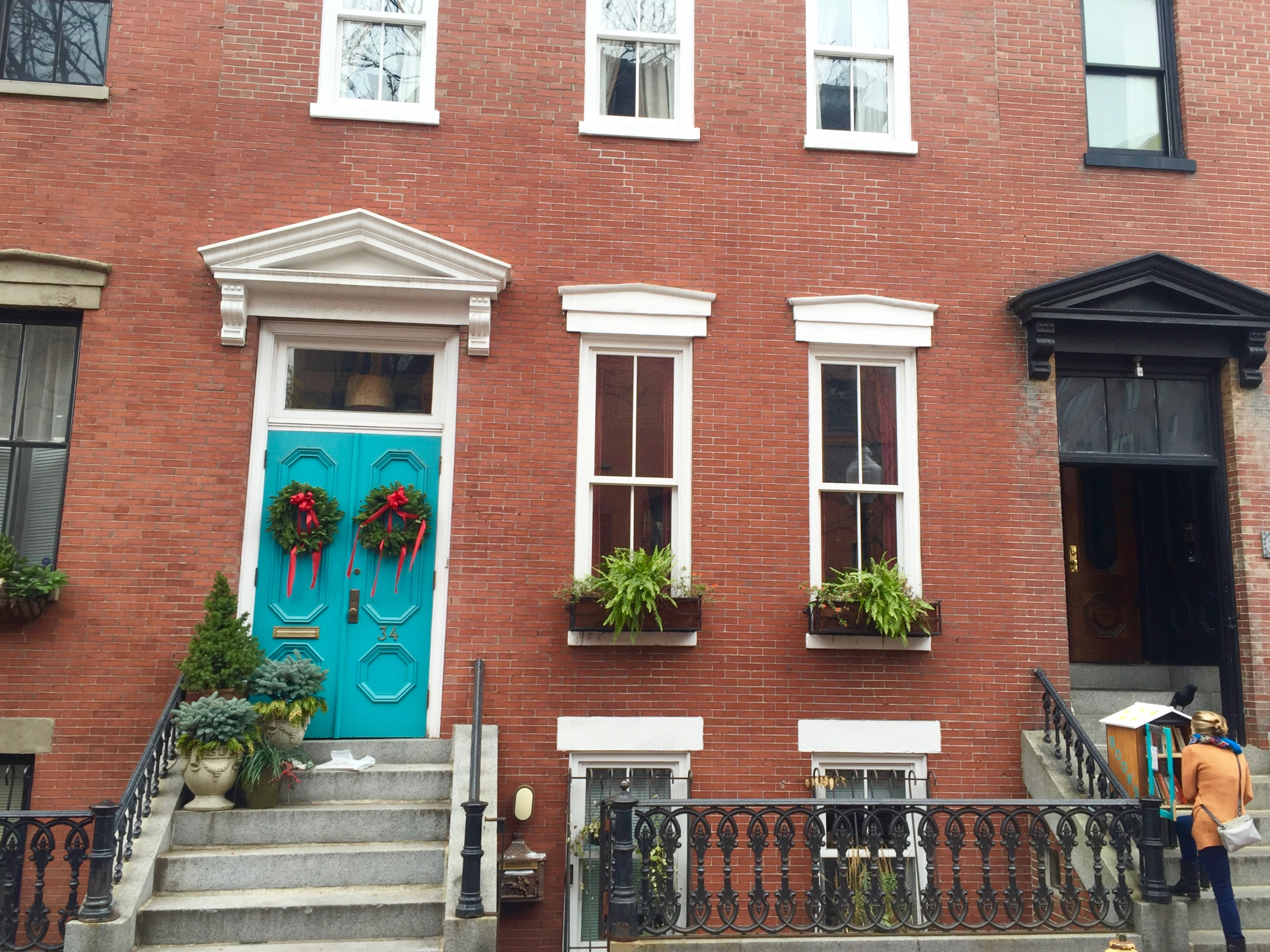 Brownstone homes in South Boston- Winter travel 2015